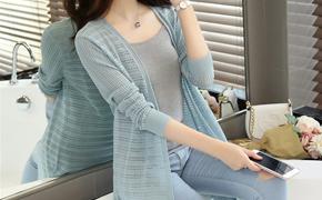 韩版中长薄款针织开衫,时尚百搭轻薄透气、不退色抗起球,夏季必备单品!